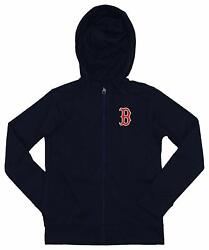 Outerstuff Mlb Youth/kids Boston Red Sox Performance Full Zip Hoodie