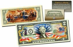 July 4th 1776 Independence Day And Statue Of Liberty 2 Sided Colorized 2 Bill-coa