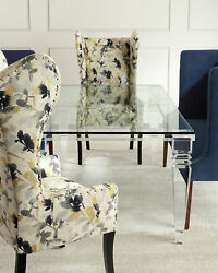 Interlude Home Christelle Acrylic & Glass Dining Table Horchow Neiman Marcus
