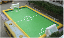 Pvc Inflatable Water Football / Soccer Field 136m Sport Game Free Air Pump