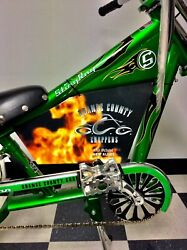 Green Schwinn Bicycle Stingray Orange County Chopper