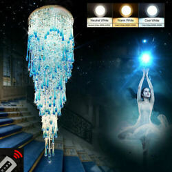 Modern Remote Control Led Chandelier Ceiling Lamp Villa Stairs Lighting Fixture