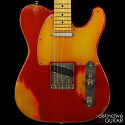 New Palir Titan Classic Relic Tele Style Guitar Candy Apple Red Lollar Pickups