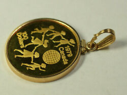 1979 Canada 100 Hundred Dollars Gold Coin In 14k Bezel Pendant Jewelry