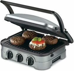 Cuisinart 5-in-1 Function Contact Counter-top Grill Panini Press Griddler Gourme
