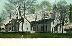 C1905 Postcard Penobscot Indian Reservation Convent And Church Indian Island Me