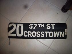 Ny Nyc Bus Roll Sign Manhattan 57 Street Crosstown Billionaires Row Real Estate