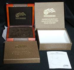 2008-w 4 Coin Burnished Uncirculated Gold Buffalo Box Ogp And Coa No Coins No Coin