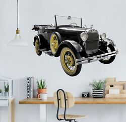 3d Oldtimer O04 Car Wallpaper Mural Poster Transport Wall Stickers Amy