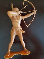 Louis Marx Western Series Indian And Cowboy Figure Bow And Arrow Warrior 6 Brave