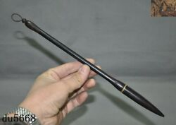 11rare Old Chinese Rosewood Wood Hand-carved Calligraphy Tools Writing Brush
