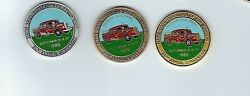 1989 Presque Isle Maine Maine Fire Fighters .999 Silver-bronze-gold Plate Enamel