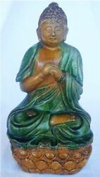 Chinese Ming Dynasty Ceramic Figure Of Buddha 9 3/4inches High Antique 4302
