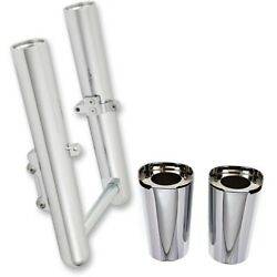 Arlen Ness Chrome Hot Legs And Fork Boot Slider Covers Package Touring Fl 14-up