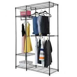 Heavy Duty Closet System Wardrobe Shelves Portable Clothes Storage Metal Rack
