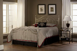 Hillsdale Furniture 167bqr Milano Bed Set - Queen With Rails Antique Pewter New