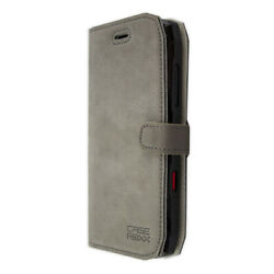caseroxx Bookstyle-Case for Crosscall Action-X3 in grey made of real leather