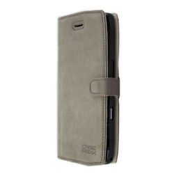 caseroxx Bookstyle-Case for Crosscall Trekker-X4 in grey made of real leather