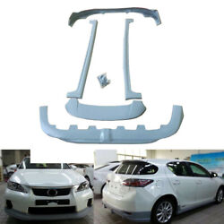 5X Front+Rear Protector Side Skirt+Car Wing Refit New For Lexus CT0h 12-13sa