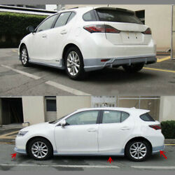 4PCS PP Plastic Auto Front+Rear Protector Side Skirt OEM For Lexus CT0h 12sa