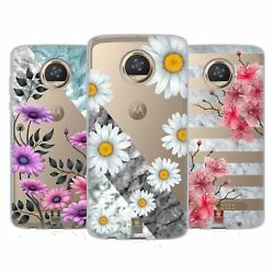 Head Case Designs Marble And Florals Soft Gel Case And Wallpaper For Motorola Phones