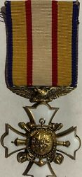 Rare Ww1 Medal New York Society Of Military And Naval Veterans Of World War Exc-