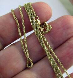 Estate Bailey Banks Biddle Bbb 14k Yellow Gold 24 Inch Long Rope Chain Necklace
