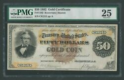 FR1192 $50 1882 GOLD NOTE EXT RARE PMG 25 CHOICE VF (21) RECORDED WLM8501