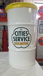 Cities Service 40s 50s 60s Vintage Style 16 Gallon Cold Rolled Steel Trash Can