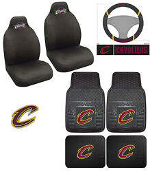 8pc Nba Cleveland Cavaliers Car Truck Floor Mat Seat Covers Steering Wheel Cover