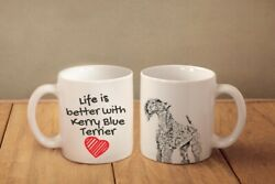 Kerry Blue Terrier Ceramic Mug Life is Better with Dog High Quality Graphics