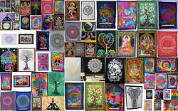 Indian Mandala Cotton Wall Hanging Decor Poster Tapestry Hippie Bedspread Throws