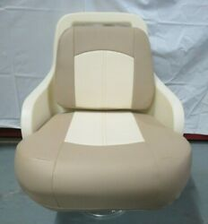 Grady White Chair -fwd Aft Slide And Spider 2-tone Cushions 192-205/3-201334-0082