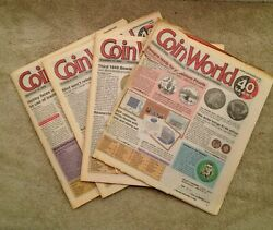 Vintage 4 Coin World With Price Value Guide Magazines 2000 Oct., Nov., Dec,