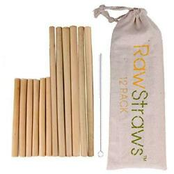 Reusable Bamboo Straws Biodegradable Drinking – 12 Pack with Sizes 8.5 inch and $11.99