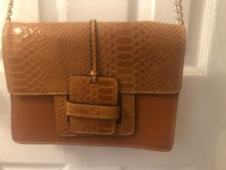 Camelia Roma Shoulder crossbody Leather Bag In Brown $49.99