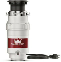 Waste King 1/2 Hp Continuous Feed Garbage Disposal Kitchen Sink Legend Series