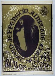 Jefferson Airplane 1966 Concert Poster Fd-17 2nd Run - Great Society Grace Slick