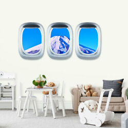 Airplane Window Decal Cloud View Peel Stickers Aviation Wall 3D Art Home Decor