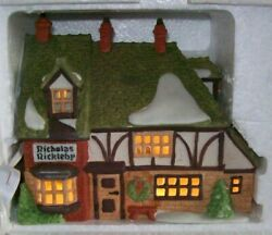 Heritage Dickens Village Series Dept. 56 4 Buildings, 2 Lg Figurines And 13 Small
