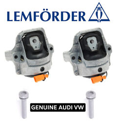 Lemforder Engine Mount Kit With Bolts Automatic Transmission For Audi