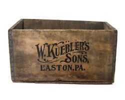 Pre Prohibition Beer Crate W Kueblerand039s Sons Easton Pennsylvania Old Brewery Box