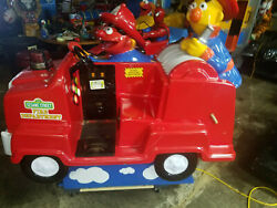 Bert And Ernie Fire Truck Coin Operated Kiddie Ride