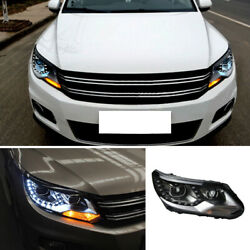 For Volkswagen Tiguan 08-11 Headlight with LED Day light Retrofit Lamps 1setlks