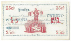 186x Brookyln Ny Twenty Five Cent Note Young Hyson Tea See Details H106 - 04617