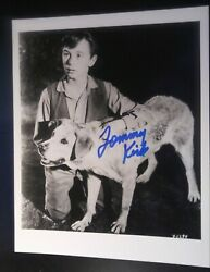 Tommy Kirk And Old Yeller Signed Photograph Autograph. Lifetime Coa Disney Film