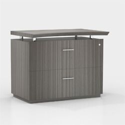 Mayline Sterling Series 2 Drawer File Cabinet In Driftwood