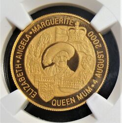 Zambia 2000 Gold 10,000 Kwacha Queen Mother's Birthday Coins Ngc Pf69 Uc.