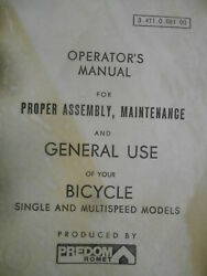 Predom Romet Bicycle Assy Maintenance General Use Single And Multispeed Models