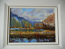 Canadian Artist Renato Muccillo Evening At Grant Narrows Park Signed Painting